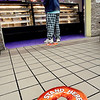 The large donut decals on the floor of Jack's Donuts at 1909 University Blvd. tell carryout customers what the safe distance is from each person in line, and the counter help, when buying donuts at the shop.