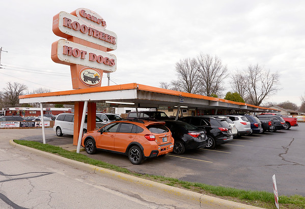 Diners stay in their car at Gene's Rootbeer in Anderson. A steady flow of customers were at Gene's on Friday.