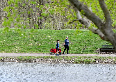 With temperatures reaching the mid-70's, Friday afternoon was a good day for a walk, or wagon ride, around the paths of Pulaski Park in Anderson. The weekend forecast calls for cooler temperatures with a chance of rain.