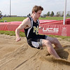 """Madison-Grant's Tanner Brooks places second with this jump of 17' 10.25"""" as the Argylls hosted Daleville and Bluffton on Monday."""