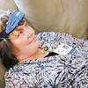 Registered Sleep Tech Connie Brown demonstrates the use of a at home sleep test kit on Friday at St.Vincent Anderson Regional Hospital.