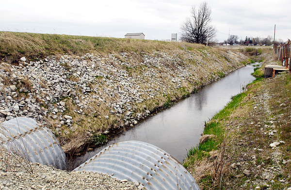 EPA says Area 7 of the old Delco Plant 7 is having pollution leakage into the Pittsford Ditch shown here with area 7 on the left.