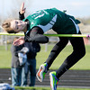 Pendleton Heights' Lexie Kisinger attempts to clear 5 feet at the Arabains' Girls Track Invitational on Thursday. Kisinger tied for second. To purchase this photo or other photos produced by The Herald Bulletin staff, visit heraldbulletin.smugmug.com.