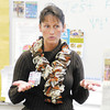 RN Elizabeth Arnett tells students about the benefits of breast feeding at Anderson High School on Friday.