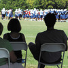 The city of Anderson hospitality tent at the Colts training camp has a area of shaded seating to watch practice.