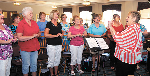 Madison County Music Makers rehearse for their upcoming State Fair performance.