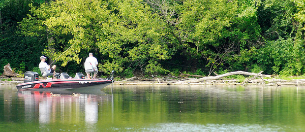 Anglers wet a line at Shadyside lake on Wednesday. According to the National Weather Service a cold front will bring chances of rain Thursday and cooler temperatures in time for the weekend.