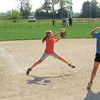 Pitchers go through drills during the Softball Recruiters clinic at the Riverfield Softball Complex in Anderson on Saturday. Quintin Harlan / The Herald Bulletin
