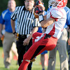 Frankton's Jordan Ginder catches the ball as APA hosted the Eagles for their season opener on Friday.