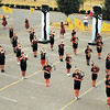 "The Anderson High School Marching Highlander's perform their show, ""Expdition Africa,"" for parents on Tuesday."