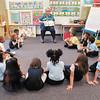 Kindergarten teacher Dixie Amonett reads a book to her class at the Kindergarten Camp being held at Anderson Elementary School.