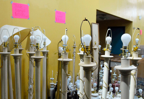 All items from the Garden Hotel being sold at a liquidation sale.