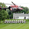 IU Health Lifeline helicopter takes off from the hole 1 fairway Friday afternoon to signal the start of Community Hospital Emergency Department's 11th annual golf tournament being played at The Edge.