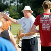 John P. Cleary | The Herald Bulletin<br /> Lapel High School Marching Band director Greg Scott gives instructions to band members during practice Wednesday.