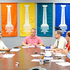 Don Knight | The Herald Bulletin<br /> The Anderson Redevelopment Commission votes to transfer the Wigwam complex to BWI and Pinebrook Properties LLC contingent on the Anderson Community Schools board approving the deal during a later meeting on Thursday. From left are Ann Marie Bauer, Ben Orcutt, Justin Puckett, Kevin Sulc, April Phillips and Greg Winkler.