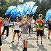John P. Cleary | The Herald Bulletin<br /> The Lapel High School Marching Band practices their routine for the upcoming State Fair Marching Band contest Saturday.