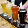 Don Knight | The Herald Bulletin<br /> A flight of four beers from light to dark are served up at Hoosier Park's new Dan Patch Brewhouse on Thursday. The Brewhouse keeps ten local brews on tap plus a larger selection of Indiana beer and wine in bottles. To view or buy this photo and other Herald Bulletin photos, visit photos.heraldbulletin.com.