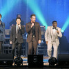 Don Knight | The Herald Bulletin<br /> The Gaither Vocal Band performs a benefit concert at the Paramount Theatre on Thursday as part of the Paramount's 85th anniversary celebration. The concert nearly sold out the theatre and raised over $125,000. From left are David Phelps, Wes Hampton, Adam Crabb, Todd Suttles, and Bill Gaither.