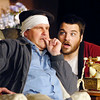 "John P. Cleary | The Herald Bulletin<br /> Stanley Gardner (Aaron Jones), right, reacts to John Smith (Andrew Persinger) telling him about having two wives during Mainstage Theatre's production of ""Run for Your Wife.""  To view or buy this photo and other Herald Bulletin photos, visit<br /> photos.heraldbulletin.com."