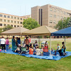 John P. Cleary | The Herald Bulletin<br /> Mothers with their young children interact on the front lawn of Community Hospital during their Mommy Monday event.
