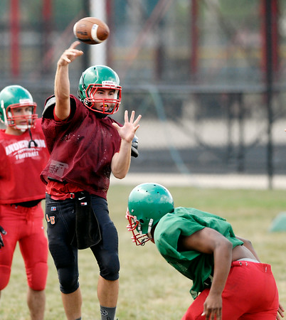 John P. Cleary | The Herald Bulletin<br /> Anderson High School football practice.