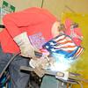 Stu Hirsch | The Herald Bulletin<br /> Grant Ebbert, 17, practices welding at the Hinds Career Center.