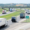 Don Knight | The Herald Bulletin<br /> The interchange at exit 210 will be converted into a double crossover diamond as part of the I-69 Major Moves 2020 construction project. The work is being done at night to minimize traffic congestion.