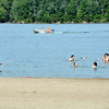 Despite an advisory about blue-green algae posted at Brookville Lake, swimmers and boaters waded in the water on a recent Sunday in southeastern Indiana.<br /> <br /> Scott L. Miley  / The Herald Bulletin
