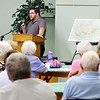 John P. Cleary | The Herald Bulletin<br /> Michael Popa, of the Hoosier Environmental Council, gives a presentation on the proposed Mounds Greenway to the local chapter of AARP at their monthly meeting Monday in Anderson.