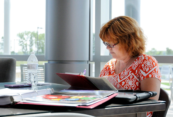 Don Knight   The Herald Bulletin<br /> Lori Gossett studies in the Ricker's Student Commons at the Ivy Tech campus on 60th Street. Fall classes at Ivy Tech started this past Monday.