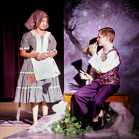 Mark Maynard | for The Herald Bulletin<br /> The Prince (Parker Smith) insists that Cinderella try-on the slipper left at the dance to see if she is the mysterious girl who captured his heart.