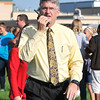 John P. Cleary | The Herald Bulletin<br /> Pendleton Heights Middle School Principal Dan Joyce checks with staff members to see if all students are out of the building and accounted for.