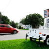 Don Knight | The Herald Bulletin<br /> A radar trailer reminds motorists of the 30 mile an hour speed limit on 38th Street in the Meadowbrook neighborhood.