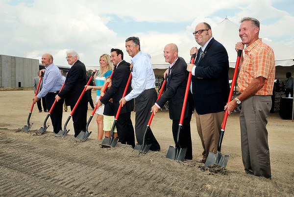 John P. Cleary   The Herald Bulletin<br /> Ground breaking for Italpollina plant.