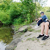 Don Knight | The Herald Bulletin<br /> Doug Barrett and his grandson Christopher Lehrman, 10, catch bass and bluegill fishing with red wigglers for bait at Shadyside on Wednesday.