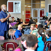 John P. Cleary | The Herald Bulletin<br /> Samuel Jackson, Life Coach at Highland Middle School, talks to students during their lunch period.