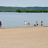 Most swimmers refrained from going underwater ona recent Sunday at Brookville Lake where state officials issued an advisory to not drink the water, take a shower after swimming and keep pets out of the lake.<br /> <br /> Scott L. Miley / The Herald Bulletin