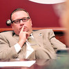 John P. Cleary | The Herald Bulletin<br /> Elwood Mayor Todd Jones listens during a recent meeting with representatives <br /> from the Madison County Health Department.