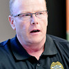 John P. Cleary | The Herald Bulletin<br /> APD detective Mark Brizendine, of Community Oriented Policing Services, is involved with the Senior Link-Are You OK? program.