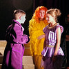 Mark Maynard | for The Herald Bulletin<br /> The Prince (Parker Smith) asks Cinderella (Lilly Thomas) to dance as her step-sister Portia (Bailey Perry) looks on.