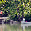 John P. Cleary | The Herald Bulletin<br /> Whether you would prefer to be on the water, or walk around it, Monday was a beautiful day to outside and enjoying the day like these folks at Shadyside Monday afternoon.