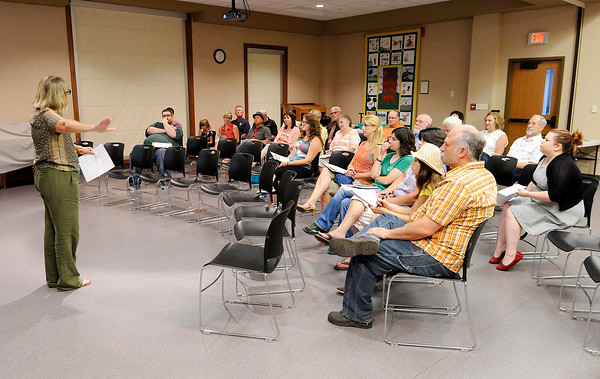 """Don Knight   The Herald Bulletin<br /> Several people turned out to hear about WIPB's """"Now Entering..."""" series on Wednesday. The next installment in the series will focus on Pendleton."""