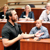 John P. Cleary | The Herald Bulletin<br /> Jacob Sundles, of Armor Energy, talks to those gathered at the first Scale Up Company of the Year Competition about the company their services. The event was hosted by the Flagship Enterprise Center