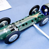Don Knight | The Herald Bulletin<br /> Mike Baldwin of Anderson built an electric tether car and will be racing it in the American Miniature Racing Car Association nationals at Jackson Park. Baldwin, a retired tool maker spent a winter designing and building the car.