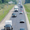 Don Knight | The Herald Bulletin<br /> Traffic heads north on I-69 at exit 210 on Thursday. An extra lane is being added between exit 205 in Fishers and exit 214 in Pendleton as part of the Major Moves 2020 construction project.