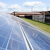 Don Knight | The Herald Bulletin<br /> The solar panel array at Sheridan Elementary School was installed by Johnson-Melloh.