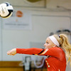 Don Knight | The Herald Bulletin<br /> Liberty Christian's Savannah Rees passes the ball as the Lions hosted the APA Jets on Tuesday.
