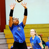 Don Knight | The Herald Bulletin<br /> APA's Tierra Watson sets the ball as the Liberty Christian Lions hosted the Jets on Tuesday.