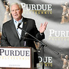 Don Knight | The Herald Bulletin<br /> Indiana Secretary of Commerce Jim Schellinger tells the crowd that the Flagship East/Purdue Polytechnic Anderson is an amazing accomplishment for the community during its dedication on Friday.