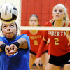 Don Knight | The Herald Bulletin<br /> APA's Ailyah Sawyer passes the ball as the Liberty Christian Lions hosted the Jets on Tuesday.